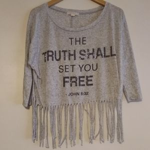 The Truth Shall Set you Free Fringe crop